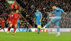 Connor Wickham of Sunderland misses with a shot...