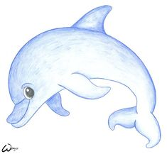 baby mermaid cartoons | Baby dolphin by woxys