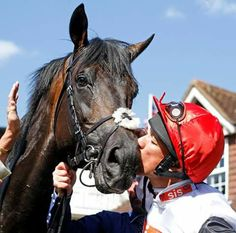 Golden Horn and Frankie Dettori. Golden Horn, Racehorse, Horse Racing, Horns, Animals, Horn, Animales, Animaux, Animal