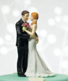 Cheeky Bride and Groom Wedding Cake Figurine - Pink Frosting Wedding Shop