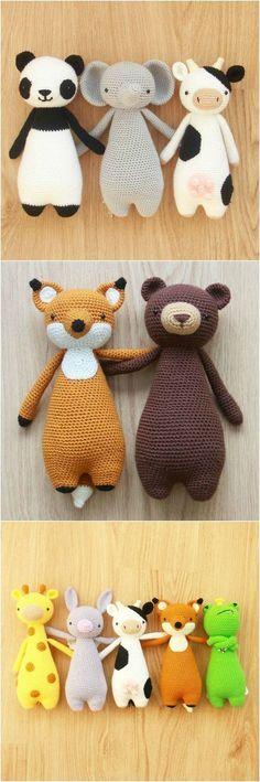 Crochet patterns by Little Bear Crochets: www.littlebearcrochets.com #littlebearcrochets #amigurumi