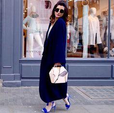 London Street Style  Caftanii Firenze Amazing Sara in  Caftanii ' s blue Dakota   must have