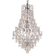 South Shore Decorating: Trans Globe Lighting HH-5 PC Silver Cascade 5 Light Transitional Crystal Chandelier TG-HH-5-PC