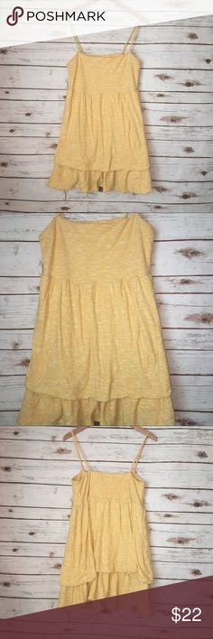 "Eloise by Anthropologie Yellow Tank Size L Size L  Armpit to armpit: 15""  Length: 27""  Top of elastic-side to side: 16""  Fabric: 100% Cotton    Eloise by Anthropologie yellow sunshine tank   Adjustable straps Anthropologie Tops Tank Tops"