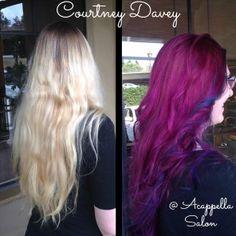 By: Courtney Davey #acappellasalon #pink #haircolor #eufora #euforacolor #creativecolor