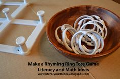 Make a ring rhyme toss game.  This is a fun way to get the kids moving and help them learn words.