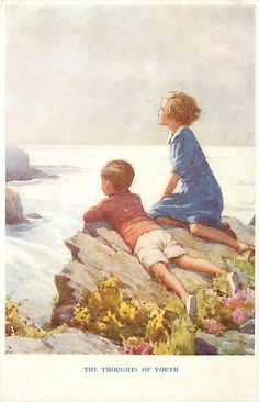 MARGARET W. TARRANT-THE SPRINGTIME OF LIFE-THOUGHTS OF YOUTH-CHILDREN-H2609 in Collectables, Postcards, Artist Signed | eBay