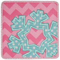 Snowflake Patch Applique 8310