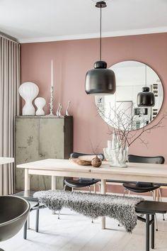 Необычно красивый цвет стен в квартире в Стокгольме (71 кв. м) | Пуфик - блог о дизайне интерьера