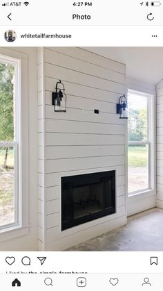 This particular small Fireplace is undeniably a notable style philosophy. Shiplap Fireplace, Bedroom Fireplace, Farmhouse Fireplace, Home Fireplace, Fireplace Remodel, Fireplace Design, Fireplaces, Linear Fireplace, Small Fireplace