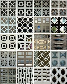 perforated screen walls | Tumblr #concrete_block  #block_screen #perforated_block