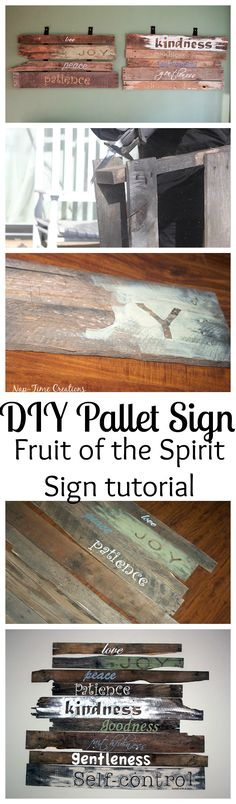 Fruit of the Spirit Pallet sign from Nap-Time Creations