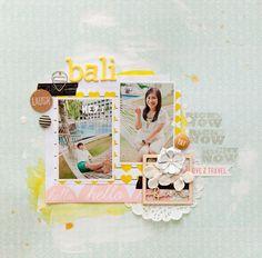 Bali - scrapbook layout by Evelyn Pratiwi Yusuf #scrapbooking #travel