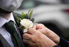 Groom's Boutoniere- Drury Floral | GALLERY White Spray Roses, Groom, Gallery, Floral, Instagram, Roof Rack, Grooms, Flowers, Flower