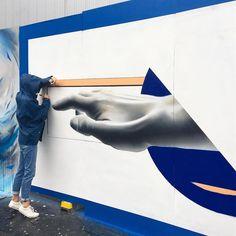 "48 Likes, 6 Comments - envol studio (@envol.ldn) on Instagram: ""Gemma, helping get it done. #upfest #streetart #ukstreetart #bristol #upfest #upfest2017…"""