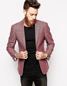 Textured wool blazer for the groomsmen