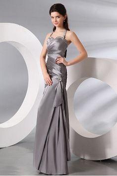 Classic Silver Taffeta Formal Gowns - Order Link: http://www.theweddingdresses.com/classic-silver-taffeta-formal-gowns-twdn2450.html - Embellishments: Beading , Crystal , Draped , Bowknot; Length: Floor Length; Fabric: Taffeta; Waist: Natural - Price: 148.29USD