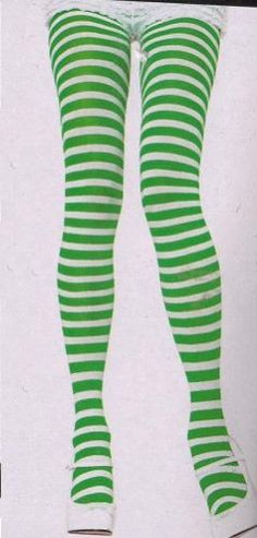 Strawberry green striped tights