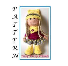 Amigurumi doll pattern crochet doll pattern pdf pattern