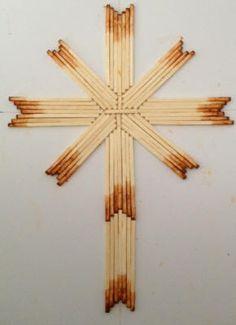 Ink Pad Version of Burnt Matchstick cross.