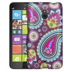 Nokia Lumia 1320 Fun Paisleys on Plum Slim Case