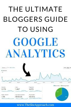 A blogger's guide to Google Analytics - The She Approach. If you're a blogger, tracking your visitors and knowing your stats is crucial to understanding your readers and making the best of this information. Here is a complete guide to installing Google Analytics and using it as a blogger.