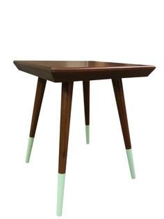 The Original!  This Mid Century inspired side table features classic stylings from the Mid Century Movement. We hand cut multiple facets into