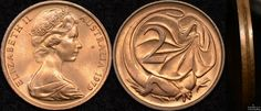 Australia 1979 2 cent struck multiple times in collar. Australian Money, Valuable Coins, Rare Coins, Coin Collecting, Genealogy, Statues, Hong Kong, Nostalgia, Woodworking
