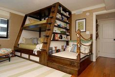 "DIY Triple Bunk Bed Ideas # ""Bunk Bed Designs""DIY Triple Bunk Bed Ideas # ""Bunk Bed wonderful ideas for a bunk bed for your children's roomSave space and stay trendy with Triple Bunk Beds Bed Design, Diy Bunk Bed, Bunk Bed With Slide, Home, Bunk Beds With Stairs, Bedroom Design, Loft Bed, Bunk Bed Plans, Loft Spaces"