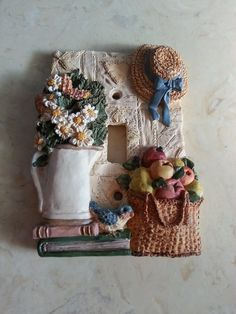 Vintage Resin Light Switch Cover Plate Basket by MyYiayiaHadThat, $12.00