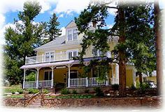 Eastholme in the Rockies Bed & Breakfast: Cascade, Colorado With a view of Pike's Peak! Colorado Usa, Colorado Springs, Colorado Wedding Venues, Mountain Village, Pikes Peak, Bed And Breakfast, Around The Worlds, House Styles, Places