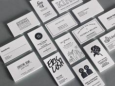 business cards - maquimk:  Piggyback Letterpress By Aldine Printing