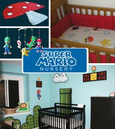 It'sa me, Mario! Level 1:1 will never leave pop culture consciousness as long as nurseries like these continue.  | 20 DIY Pop Culture Themes For Your Baby's Nursery