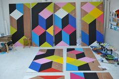 The Movement Cafe / Morag Myerscough,Courtesy of Morag Myerscough and Luke Morgan