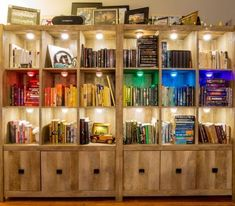 As my bookshelves have caused much controversy over the years (people either swoon or swear depending on their own specific types of OCD), I figured I should Types Of Ocd, Rainbow Light, Bookshelves, Liquor Cabinet, Envy, Storage, Furniture, Home Decor, Stream Bed