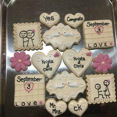 Engagement Cookies....Log House Cookies