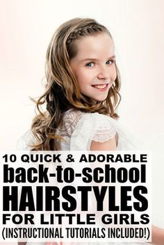 Looking for cute and easy back-to-school hairstyles for long hair? We've got you covered. Whether you're looking for hairstyles for kids or for teens, prefer something simple or want something a bit more complicated with braids or clips, this collection of quick DIY tutorials will give you the inspiration you need!
