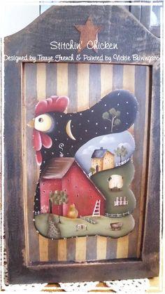 Stitchin' Chicken email pattern packet by, Vicki Brinningstool