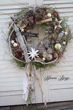 """Weihnachtsdeko - :::: Türkranz """" Nussknacker """":::: - ein Designerstück von BlumereiBerger bei DaWanda"""