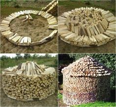 Discover thousands of images about Stacking firewood