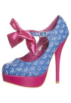 BOW ME - Zapatos altos - azul