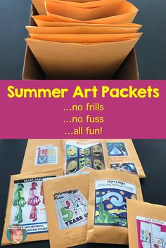 Summer Art Packets! No frills - No Fuss - Just fun from Art with Jenny K.