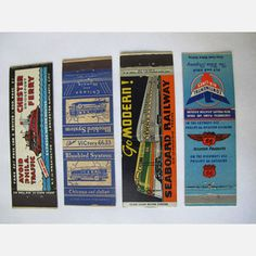 Transportation Matchcovers 4Pk, $120, now featured on Fab.