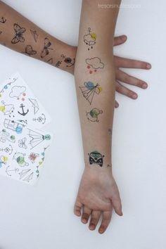 TATTOO SAUVAGE kids | Trésors Inutiles / De jolis petits tatouages pour les enfants et les grandes ;) Jolies couleurs