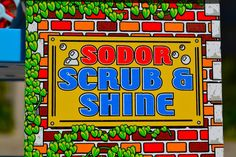 A 60 Second Review On The Thomas Wooden Railway SODOR SCRUB & SHINE