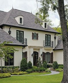 French country style home. Love this look!