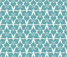 three leaves blue fabric by myracle on Spoonflower - custom fabric