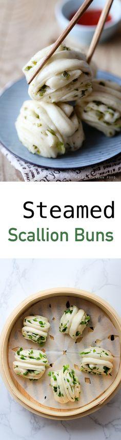 Steamed Scallion buns