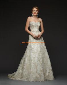Bonny Essence Schöne Elegante Brautkleider aus Organza mit Applikation
