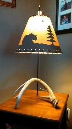 Barnwood And Deer Antler Lamp For Scotty Antler Lamp